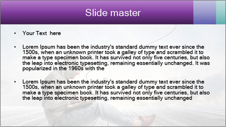 Man using a laptop PowerPoint Template - Slide 2