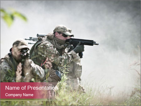 Special forces soldiers PowerPoint Template