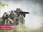 Special forces soldiers PowerPoint Templates