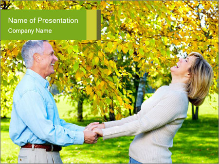 Happy senior couple PowerPoint Templates