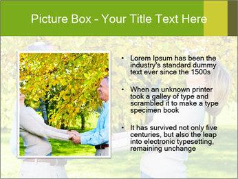 Happy senior couple PowerPoint Template - Slide 13
