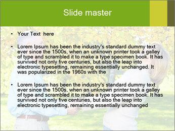 Happy senior couple PowerPoint Template - Slide 2