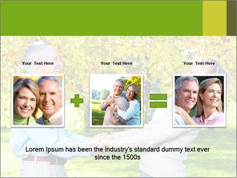 Happy senior couple PowerPoint Template - Slide 22