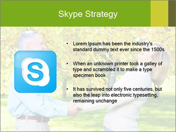 Happy senior couple PowerPoint Template - Slide 8