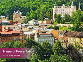 Karlovy Vary PowerPoint Template - Slide 1