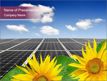Solar energy panels PowerPoint Template