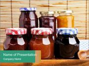 Assortment of jam PowerPoint Template