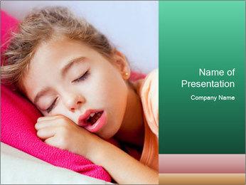 Deep sleeping children PowerPoint Template - Slide 1