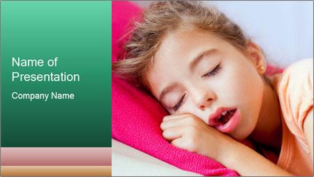 Deep sleeping children PowerPoint Template