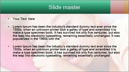 Deep sleeping children PowerPoint Template - Slide 2