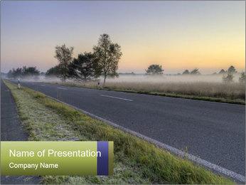 Street early morning Modèles des présentations  PowerPoint