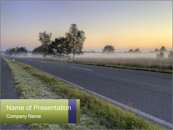 Street early morning PowerPoint Template
