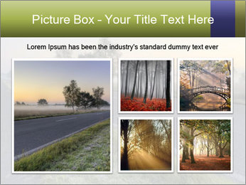 Street early morning PowerPoint Templates - Slide 19