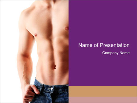 Healthy muscular PowerPoint Templates