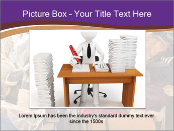 Pile of misc items PowerPoint Template - Slide 16