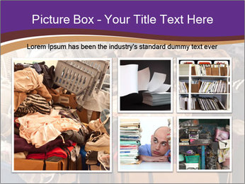 Pile of misc items PowerPoint Template - Slide 19