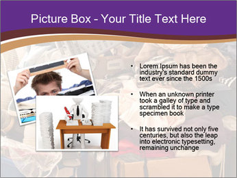 Pile of misc items PowerPoint Template - Slide 20