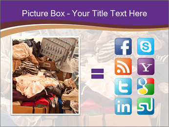 Pile of misc items PowerPoint Template - Slide 21