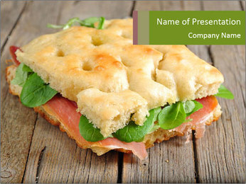 Focaccia PowerPoint Template - Slide 1