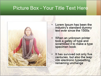 Beautiful young woman meditating PowerPoint Template - Slide 13