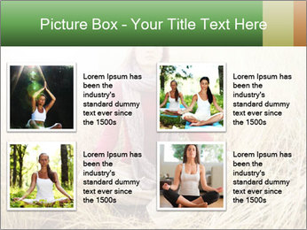 Beautiful young woman meditating PowerPoint Template - Slide 14