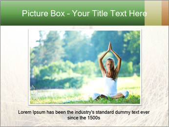 Beautiful young woman meditating PowerPoint Template - Slide 15