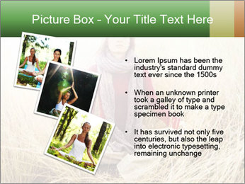 Beautiful young woman meditating PowerPoint Template - Slide 17