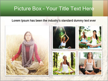 Beautiful young woman meditating PowerPoint Template - Slide 19