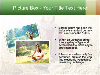 Beautiful young woman meditating PowerPoint Template - Slide 20