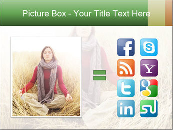 Beautiful young woman meditating PowerPoint Template - Slide 21
