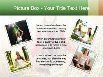 Beautiful young woman meditating PowerPoint Template - Slide 24