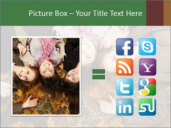 Three girls PowerPoint Template - Slide 21