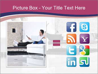 Relaxed young couple PowerPoint Template - Slide 21