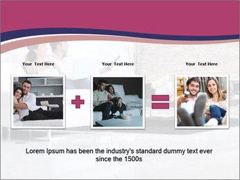 Relaxed young couple PowerPoint Template - Slide 22
