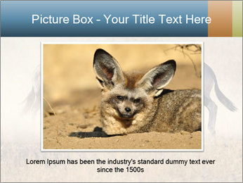 Two male gemsbok antelopes PowerPoint Template - Slide 16