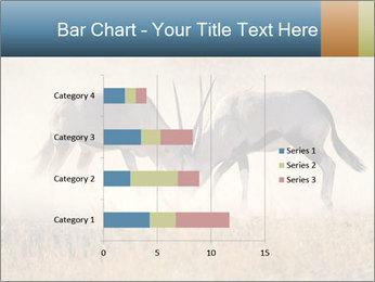 Two male gemsbok antelopes PowerPoint Template - Slide 52