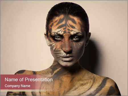 Sexy tiger PowerPoint Template