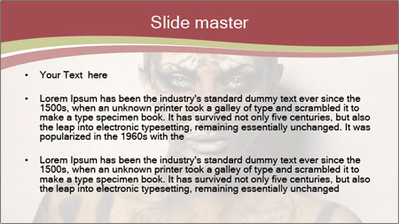 Sexy tiger PowerPoint Template - Slide 2