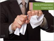 Angry businessman PowerPoint Templates