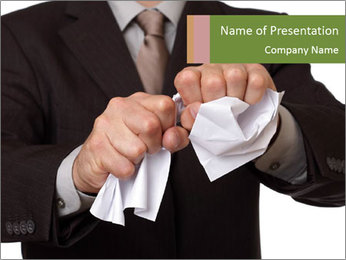 Angry businessman PowerPoint Template - Slide 1