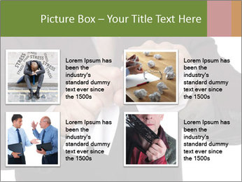 Angry businessman PowerPoint Template - Slide 14