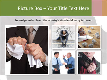 Angry businessman PowerPoint Template - Slide 19