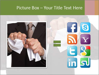 Angry businessman PowerPoint Template - Slide 21