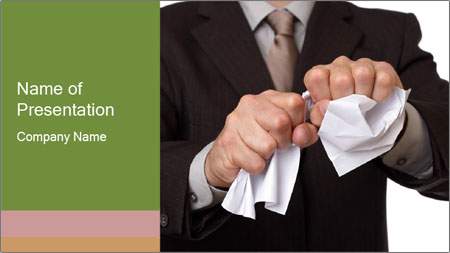 Angry businessman PowerPoint Template