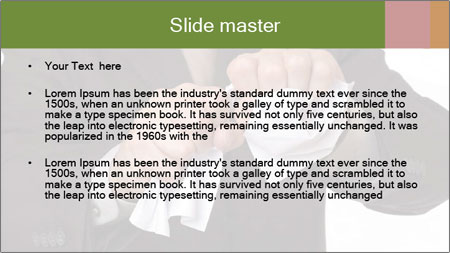 Angry businessman PowerPoint Template - Slide 2