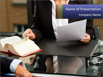 Female lawyer PowerPoint Template - Slide 1
