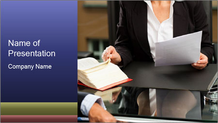Female lawyer PowerPoint Template