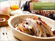 Baked pheasant PowerPoint Templates