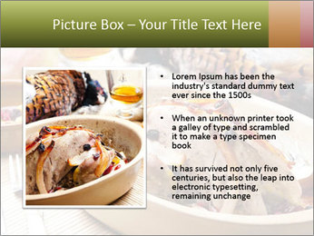 Baked pheasant PowerPoint Template - Slide 13