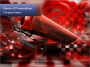 Red abstraction PowerPoint Templates